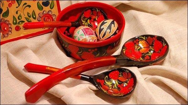 Ukrainian wooden spoons